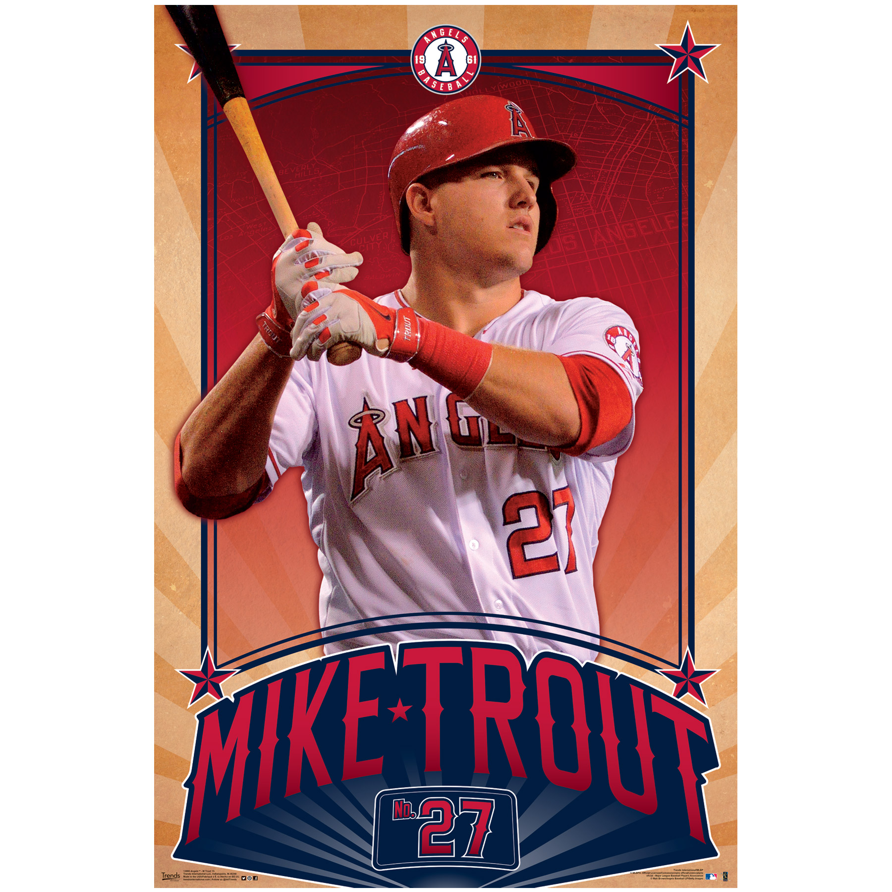 "Mike Trout Poster 22""X34""-"