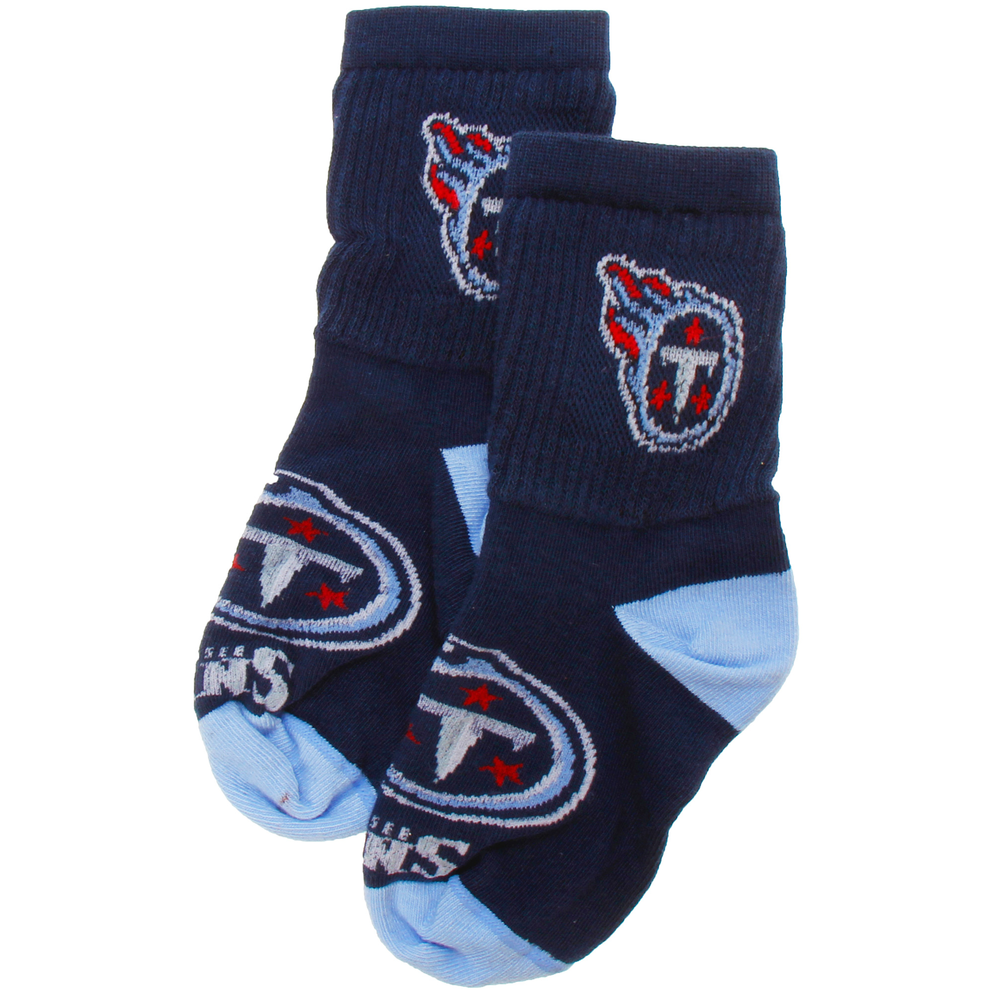 Tennessee Titans For Bare Feet Toddler Big Logo & Name Socks - No Size