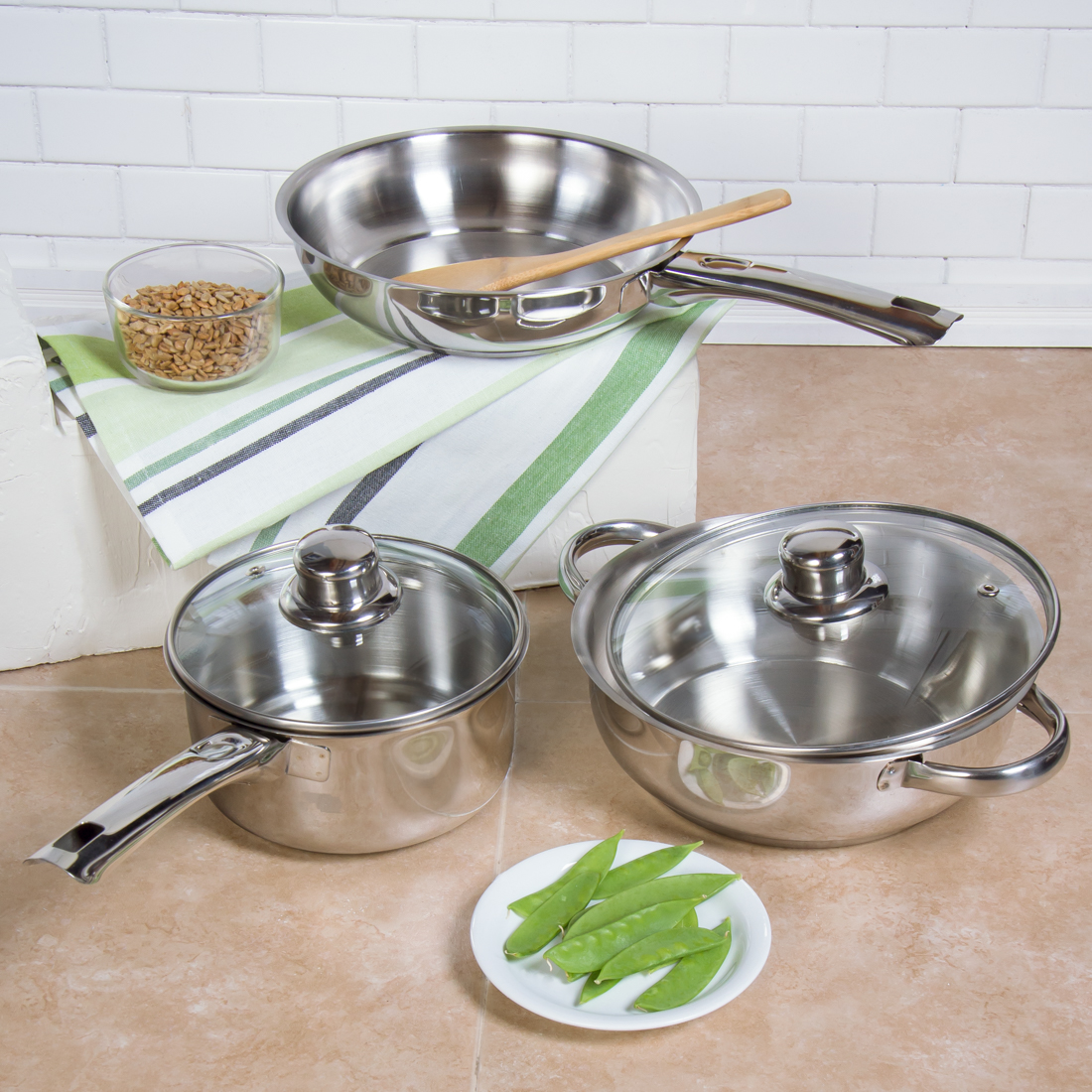 5 Piece Stainless Steel Cookware Set by