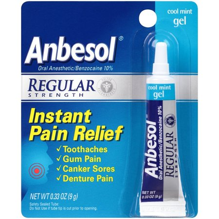 Anbesol Gel Size .25z Anbesol Cool Mint Gel Mouth Pain Relief