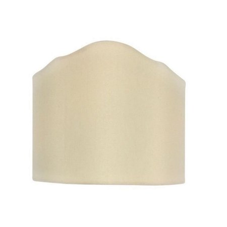 Half Round Sconce - Wall Sconce Shield Clip on Half Lampshade (Eggshell)