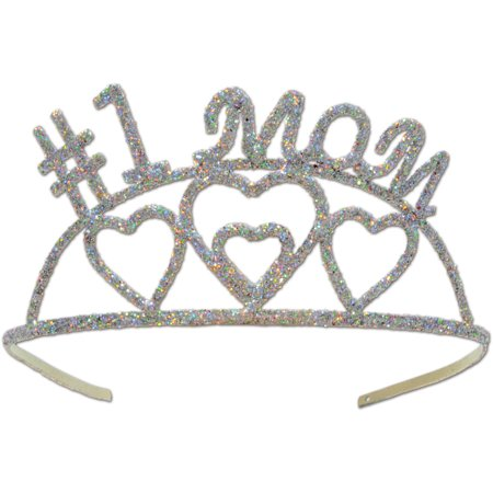 Ddi Glittered #1 Mom Tiara (pack Of 24)