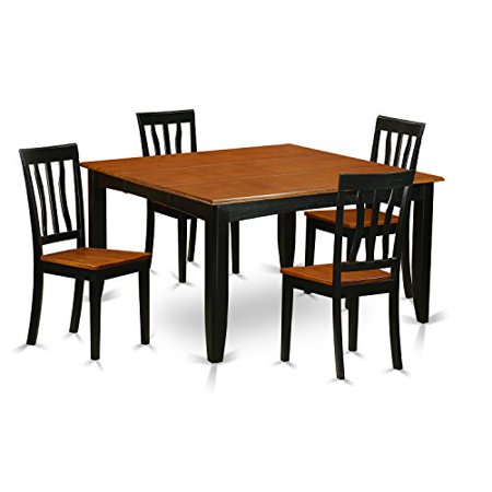 bch w 5 pc dining room table set dining table and 4 wooden dining