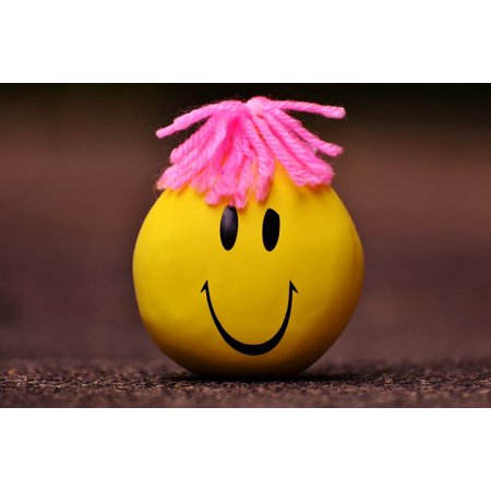 Stress Poster (LAMINATED POSTER Smiley Stress Reduction Knead Anti-stress Ball Poster Print 24 x 36)