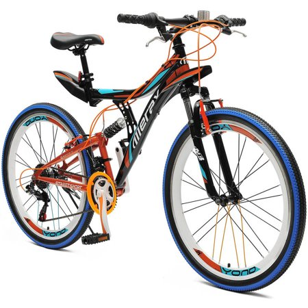"26"" Merax Yond Dual-Suspension 21 Speed Mountain Bike"