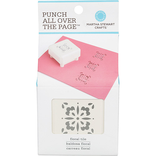 Martha Stewart Punch-All-Over-The-Page Punch, Floral Tile