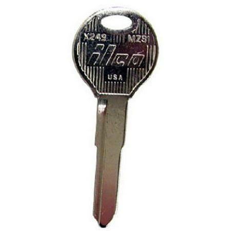 KABA ILCO MZ31-X249 Master Key Blank For Mazda MX5-Miata 1998-1999, Protege & 323 1997-1999, MPV Van 1998-1999