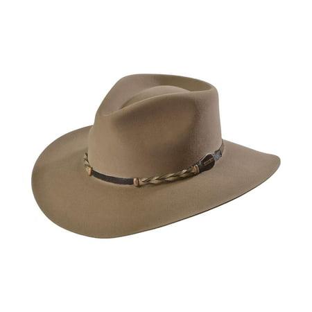 Stetson Men's 4X Drifter Buffalo Felt Pinch Front Cowboy Hat - Sbdftr-163420 (Stetson Linen Cap)