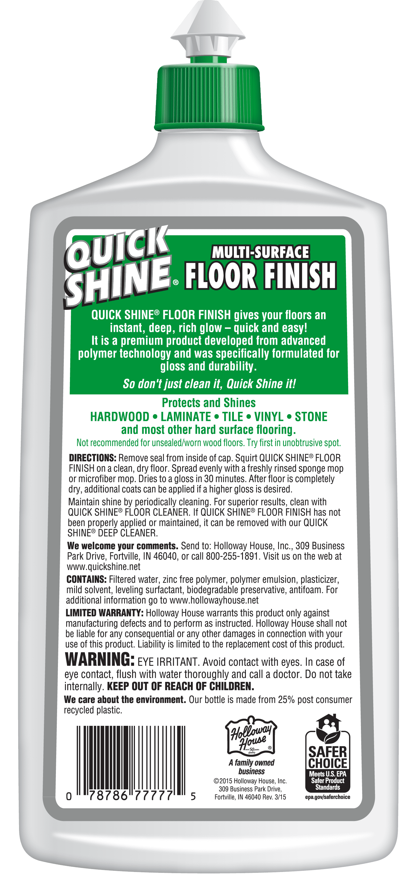 Quick Shine Multi Surface Floor Finish 27 Fl Oz Walmart Com