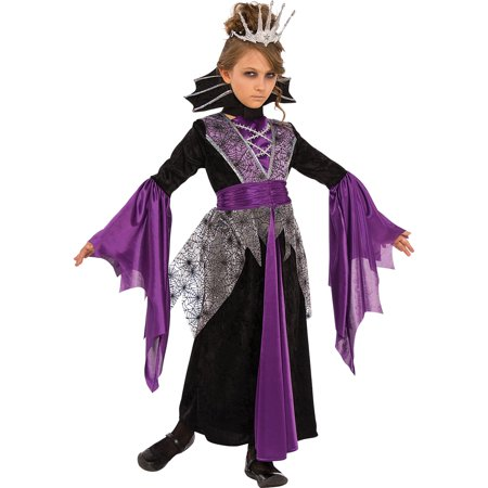 Girls Queen Vampire Costume - Little Girl Vampire Halloween Makeup