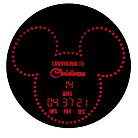 Disney Magic Holiday Mickey Mouse Countdown Lightshow Projector Red (Live's Halloween Countdown)