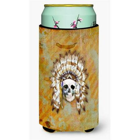 Carolines Treasures BB5121TBC Day of the Dead Indian Skull Tall Boy Beverage Insulator Hugger - image 1 de 1