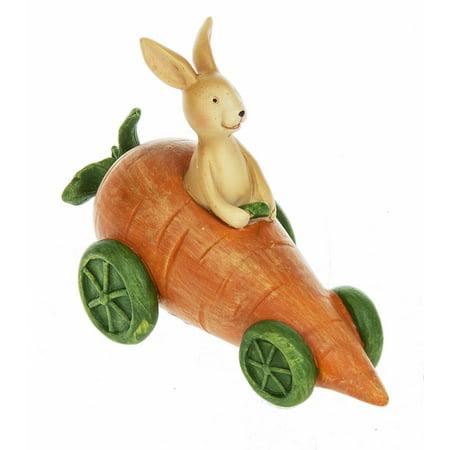 Ganz Porcelain (Carrot Car Driving Bunny Figure Easter Decoration - By Ganz)