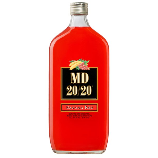 Md 20 20 Banana Red Flavored Wine 750ml Walmart Com Walmart Com