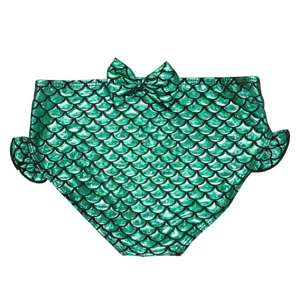 3e1d1deb18 Kids Girls Fancy Mermaid Tail Bikini Set Swimwear Swimsuit Swimming Costume