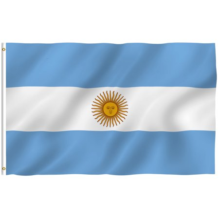 ANLEY [Fly Breeze] 3x5 Feet Argentinian Flag - Vivid Color and UV Fade Resistant - Canvas Header and Brass Grommets - Argentina AG Banner Flags