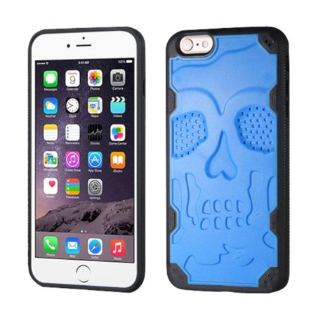 Insten Skullcap Hard TPU Case For Apple iPhone 6 Plus/6s Plus - Blue/Black - image 7 de 7