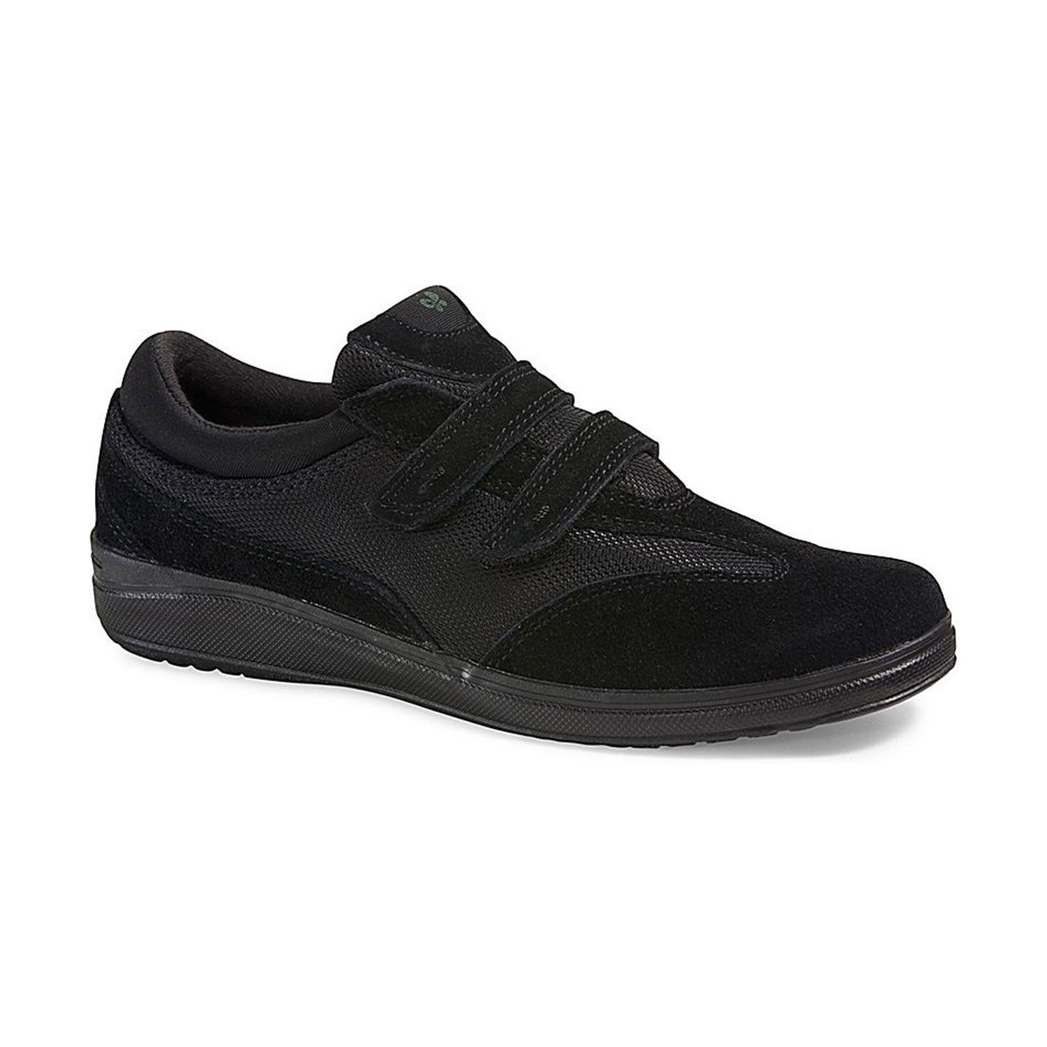 Grasshoppers Women's Stretch Plus Strap Suede Size 7 Black by Keds