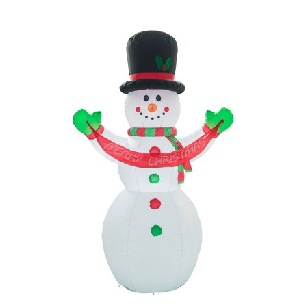 Buy-Hive 7.9Ft Xmas Inflatable Snowman Lighted Merry Christmas Festival Yard Mall Decoration Outdoor