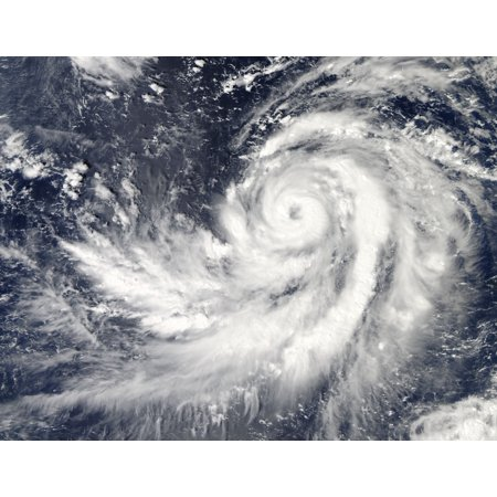 October 17 2013   Typhoon Francisco Southwest Of Guam Poster Print