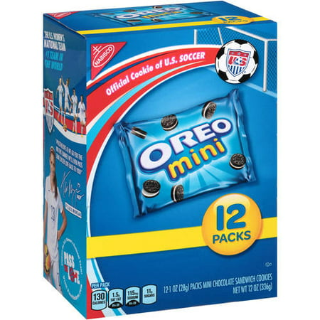 (2 Pack) Nabisco Mini Oreo Chocolate Sandwich Cookies Munch Packs, 12 oz - Premade Halloween Cookies