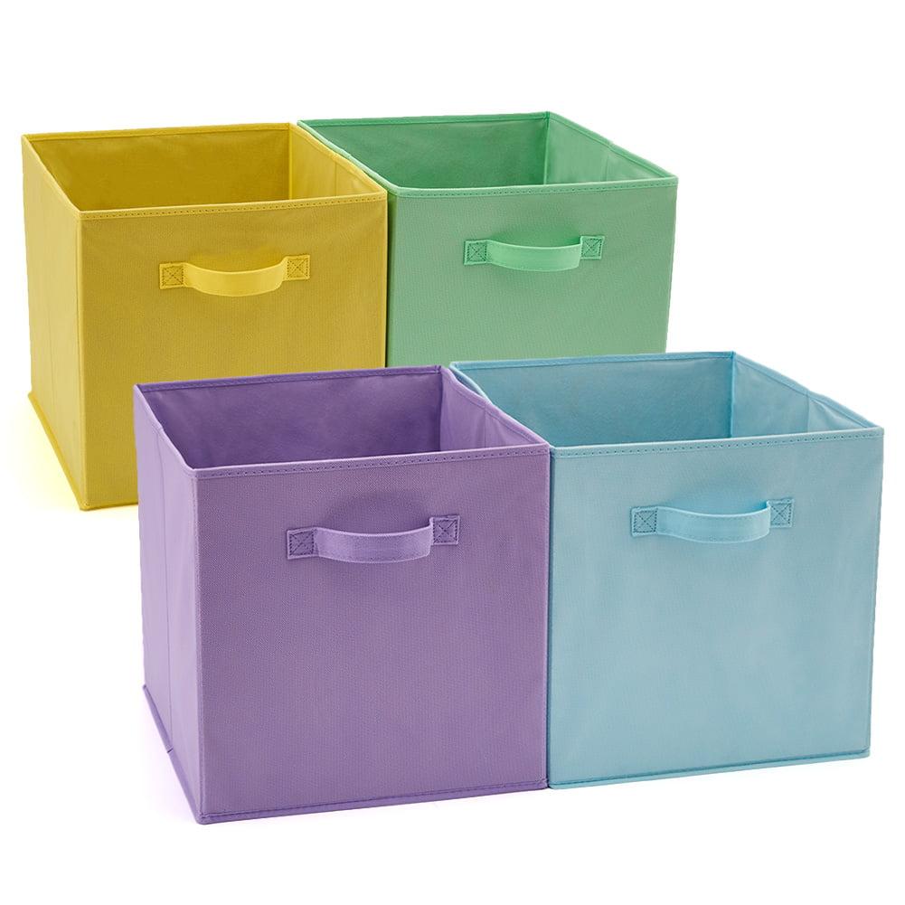 ASKETAM Square Canvas Fabric Storage Boxes,Collapsible Storage Baskets,Canvas Toy Organizer,Shelf Basket,Baby Nursery,Gift Baskets Cross bar Rugby Closet /& Laundry,Room Decor