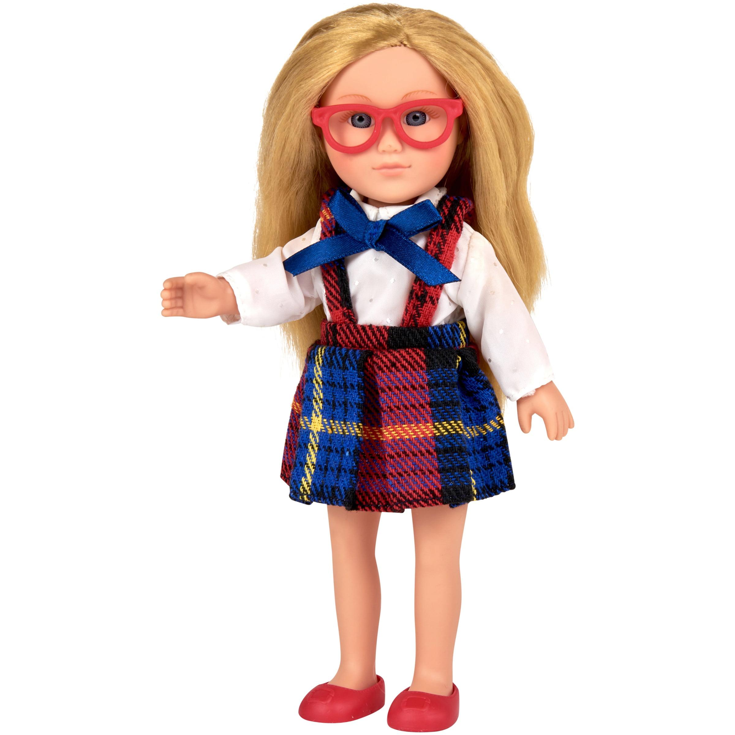 "My Life As 7"" Mini Poseable School Girl Doll, Blonde Hair"