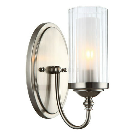 Hardware House Lexington Single Light Bath and Wall Fixture - Finish: Satin Nickel Bronze Aspen Single Light