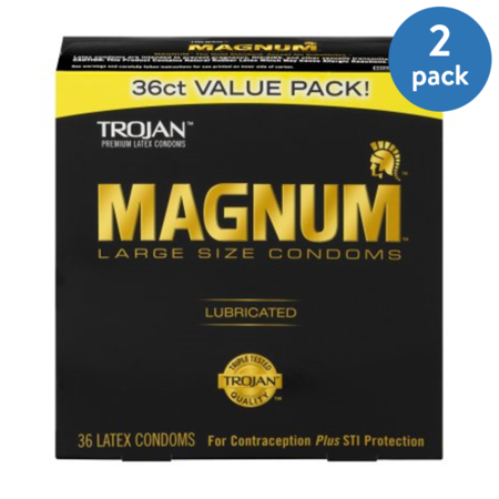 - (2 Pack) MAGNUM Large Size Condoms, 36ct