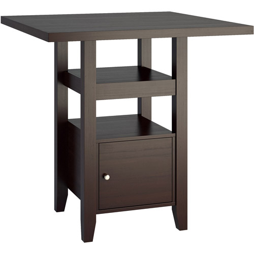 """CorLiving Bistro 36"""" Counter-Height Cappuccino Dining Table with Cabinet"""