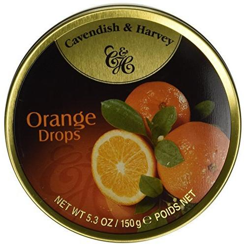 Cavendish & Harvey Candies, Orange Drops, 5.3 Oz, Pack Of 12