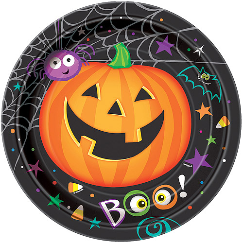 "9"" Pumpkin Pals Halloween Dinner Plates, 8ct"