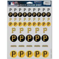WinCraft Pittsburgh Pirates 8.5'' x 11'' Sticker Sheet - No Size