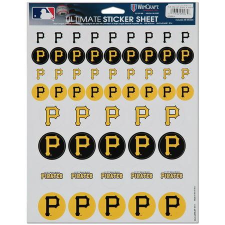 WinCraft Pittsburgh Pirates 8.5'' x 11'' Sticker Sheet - No Size (Pittsburgh Pirates Bed)