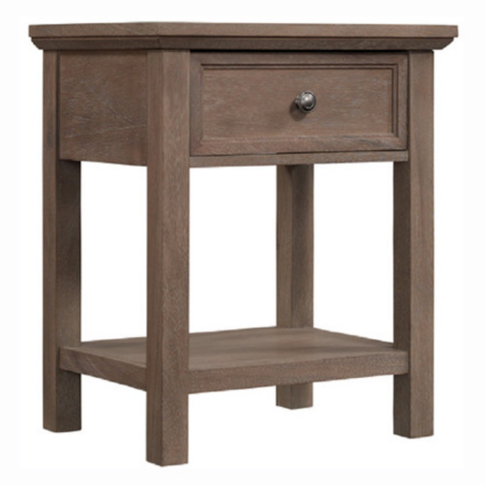 Runfine Rustic 1 Drawer Nightstand