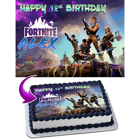 Fortnite Battle Royale Edible Frosting Sheet Cake Topper, 1/4 Sheet