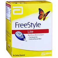 Freestyle Lite Blood Glucose Monitoring Meter System 1 Each