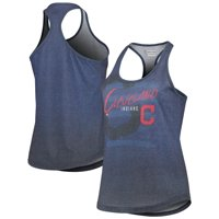 Cleveland Indians Women's Striped Tank Top - Heathered Navy