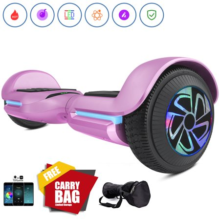 1899 Silver Certificate - Spadger SS-01JR Hoverboard Self Balancing Scooter, Premium LED Wheels, Smart Speaker Pro, LED Lights & Smart App Enable, 250W Dual Moters, UL 2272 Certificate for Kids Pink