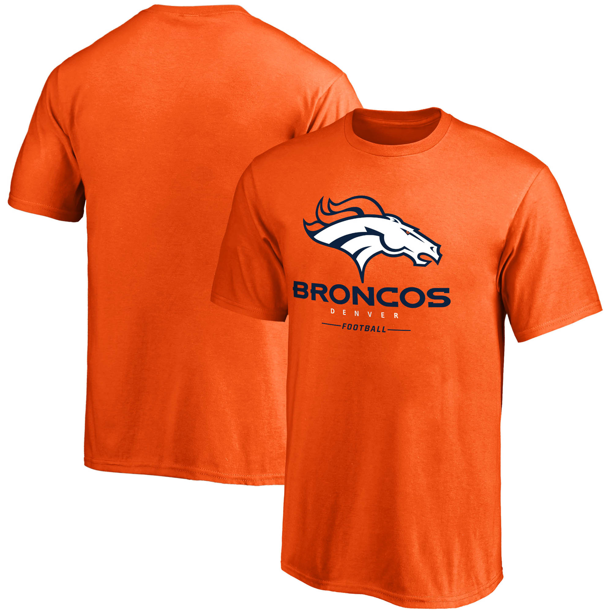 Denver Broncos NFL Pro Line by Fanatics Branded Youth Team Lockup - T-Shirt - Orange