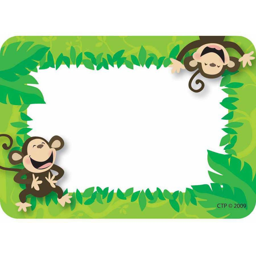 Creative Teaching Press Name Tags, Monkey Business, Pack of 36