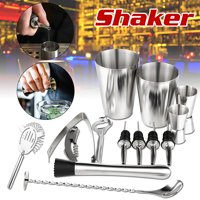 Cocktail Shaker Bar Set -14Pack Stainless Steel Cocktail Shaker Mixer Drink Bartender Martini Tools Bar Kit