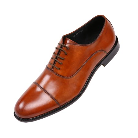 - Asher Green Mens Genuine Waxy Calf Leather Lace up Cap Toe Oxford Dress Shoe