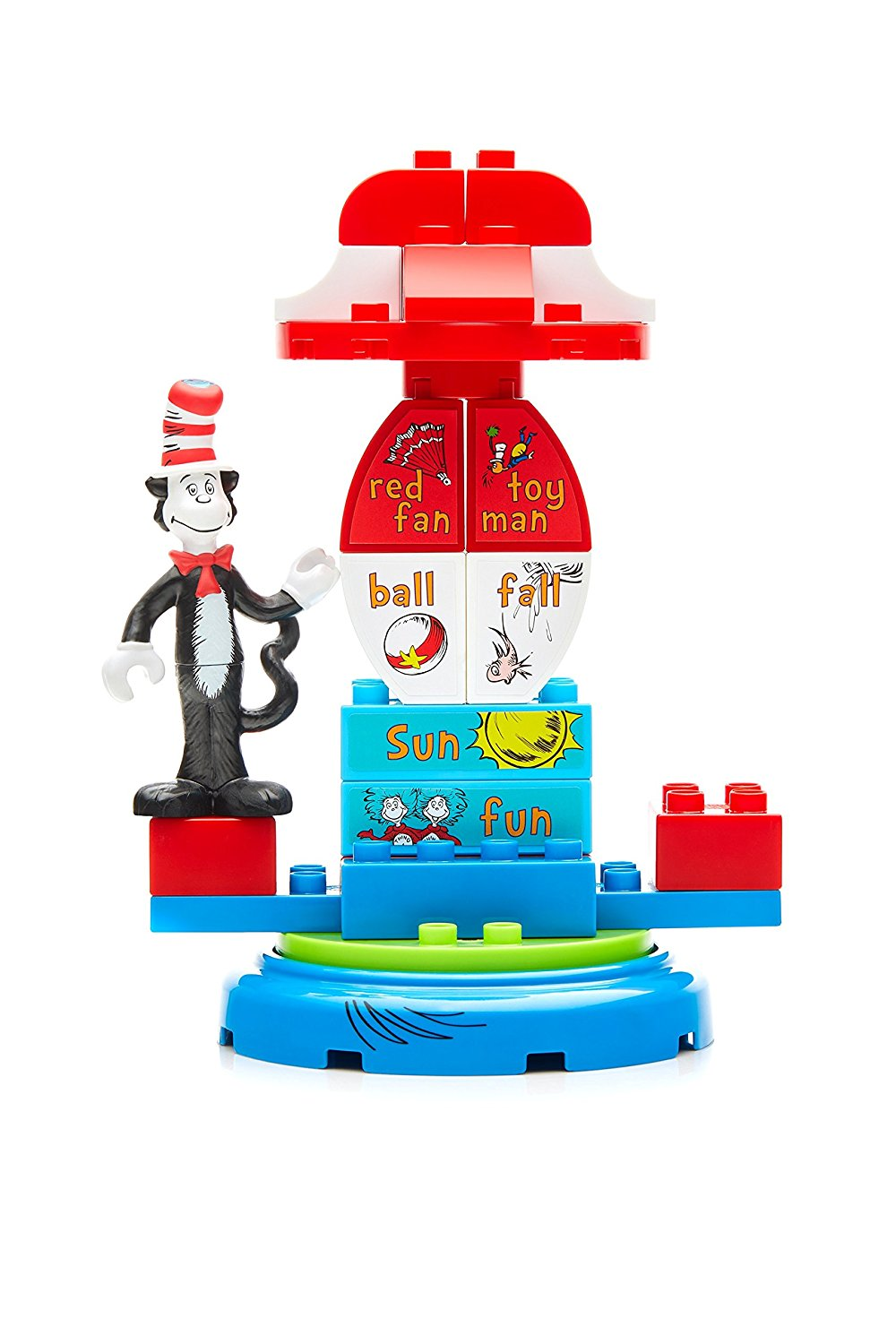 Mega Bloks Dr. Seuss the Cat in the Hat Carousel Building Set (24 Piece), Multicolor by Mattel