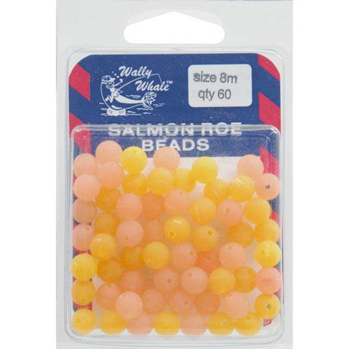 Wally Whale Salmon Roe Beads, Peach and Orange