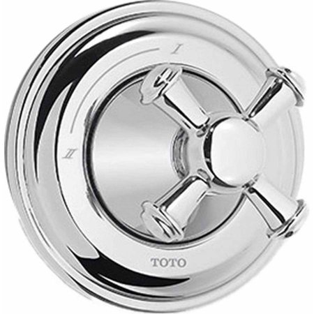 Diverter Crystal Cross (Toto Vivian Two-Way Diverter Trim with Cross Handle, Available in Various Colors )