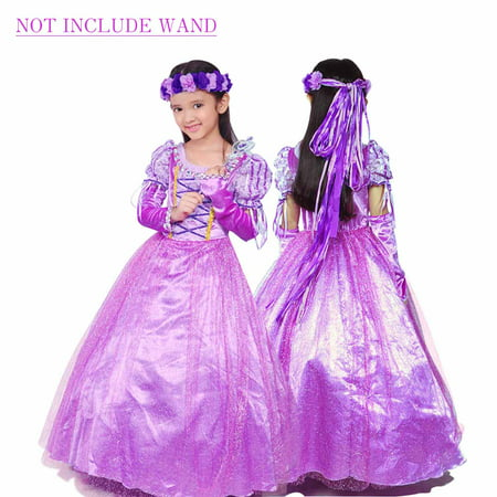 Holloween Gift Rapunzel Princess Party Costume Long Dress