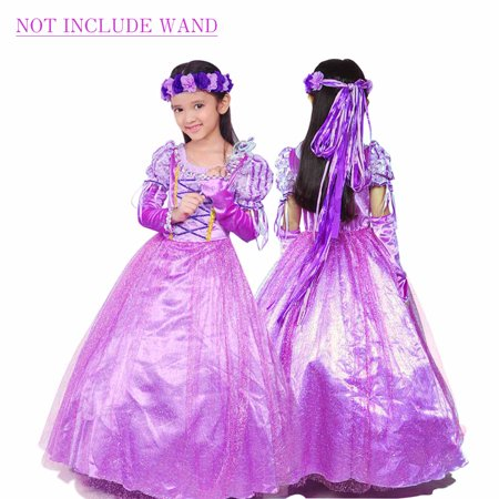 Holloween Gift Rapunzel Princess Party Costume Long Dress - Princes Jasmine Costume