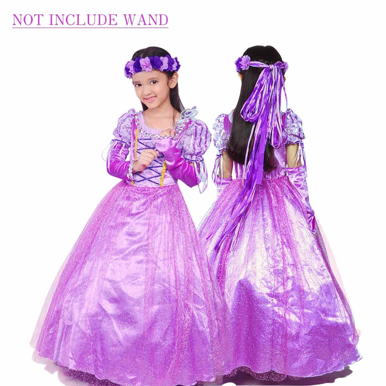Holloween Gift Rapunzel Princess Party Costume Long Dress