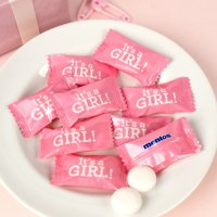 It's a Girl Baby Shower Mints Girl Baby Shower Favors (Approx 75 Count) - Individually Wrapped Mentos Mints 1/2 lb.